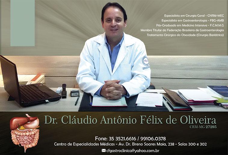 Dr. Cláudio Antônio Félix de Oliveira - Gastroclínica - CRM/MG - 27295