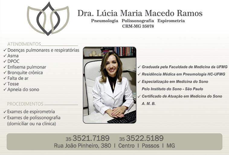Dra. Lúcia Maria Macedo Ramos - CRM/MG - 35078