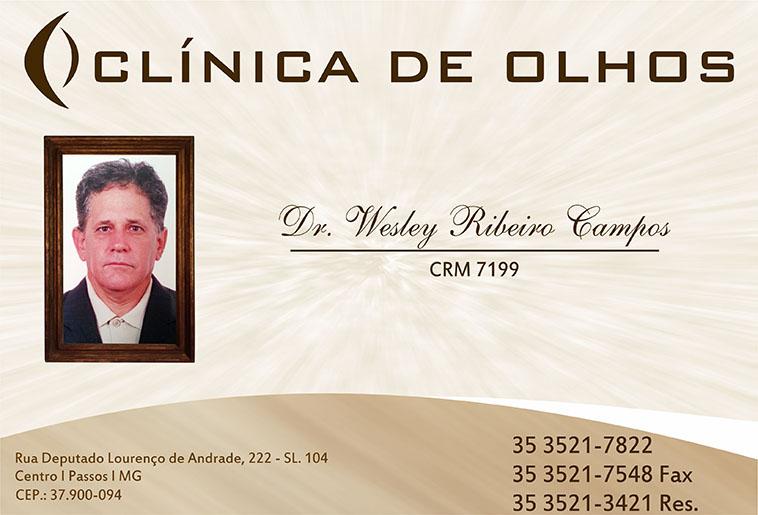 Clínica de Olhos Dr. Wesley Ribeiro Campos - CRM - 7199