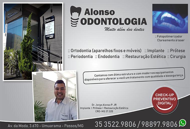 Alonso Odontologia - Dr. Jorge Alonso P Júnior - CRO/MG - 37320