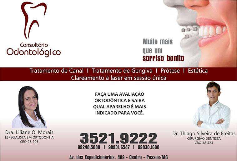 Dr. Thiago Silveira de Freitas - Consultório Odontológico - CRO - 38424