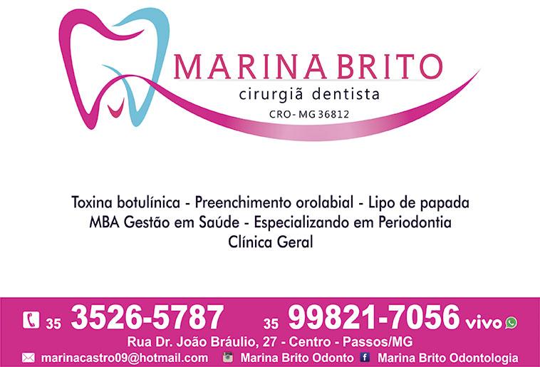 Dra. Marina Brito Odontologia - CRO/MG - 36812