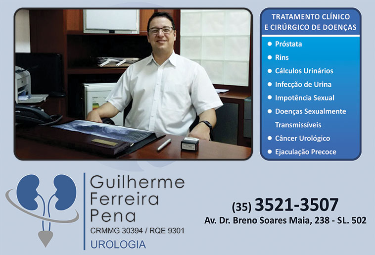 Dr. Guilherme Ferreira Pena - CRM/MG - 30394
