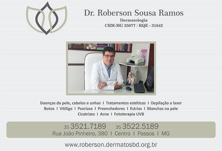 Dr. Roberson Sousa Ramos - Dermatologista - CRM/MG - 35077