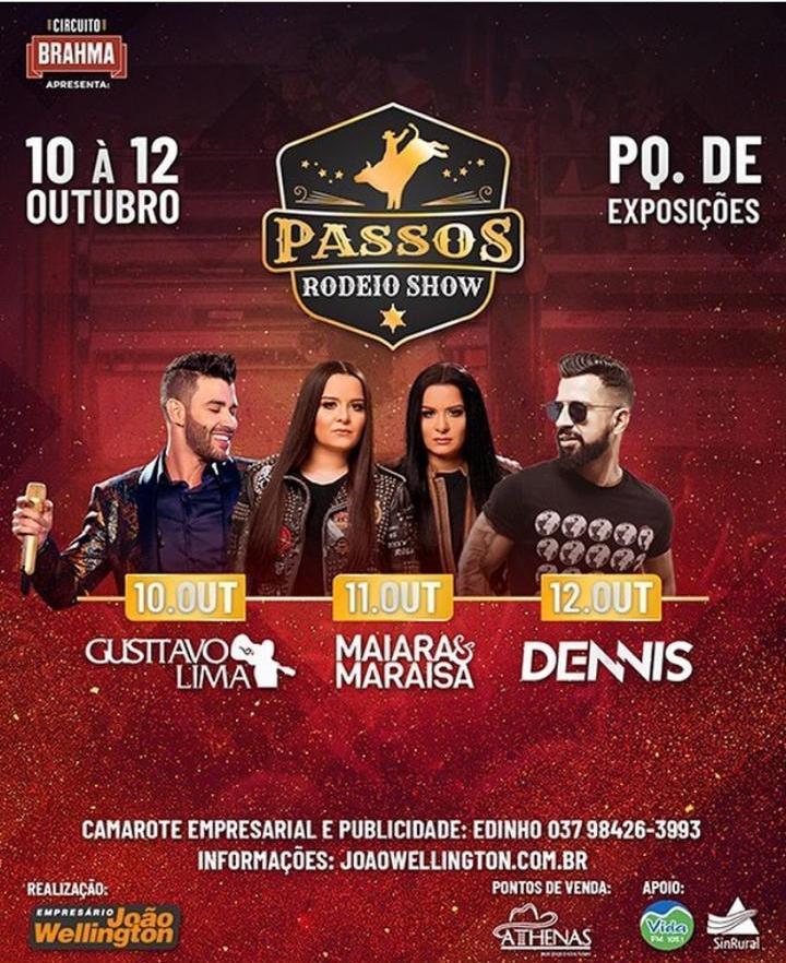 Parque de Exposições - Passos Rodeio Show - Maiara e Maraísa Passos MG
