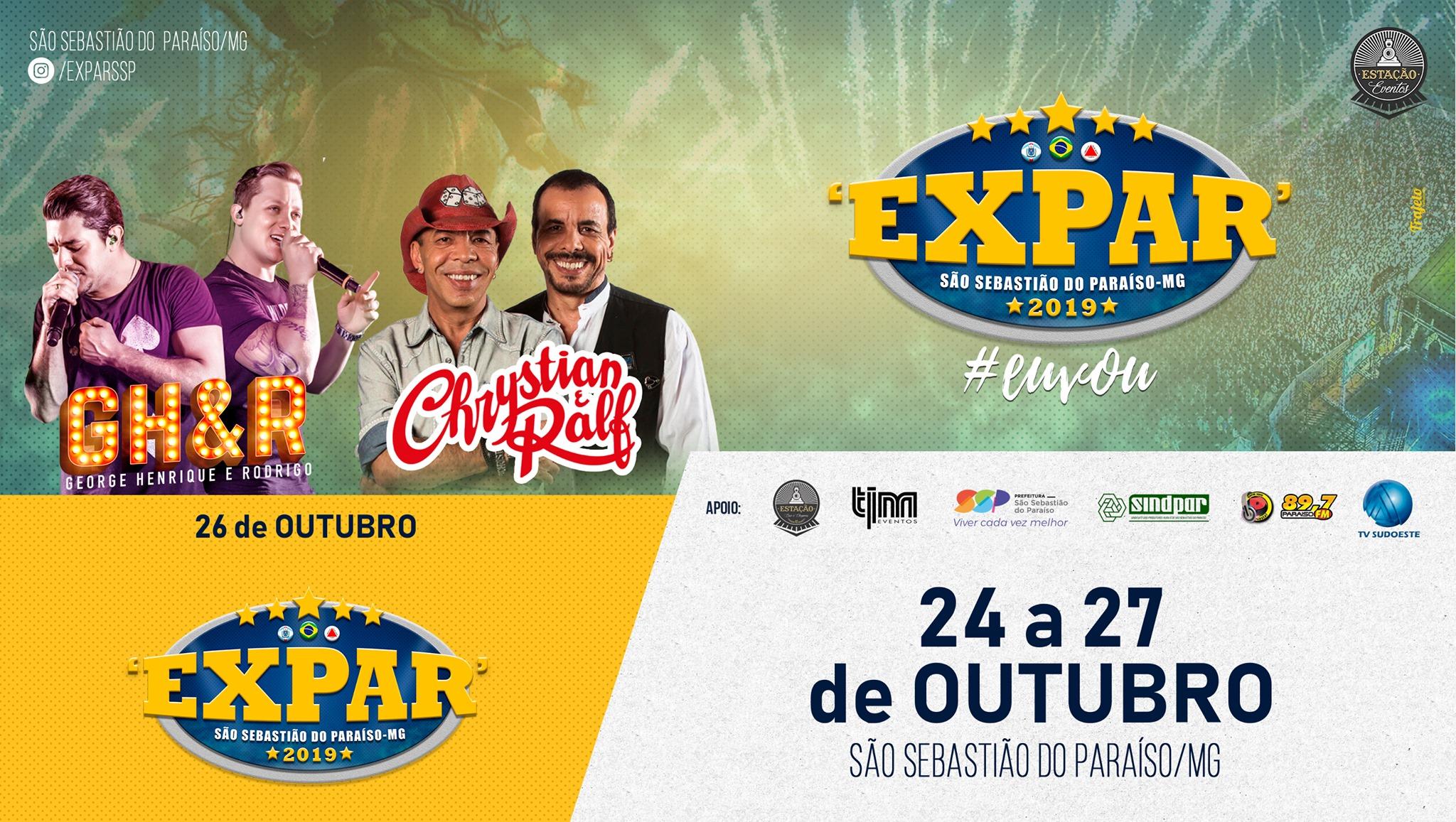Expar 2019 - Show Chrystian e Ralf São Sebastião do Paraiso MG.