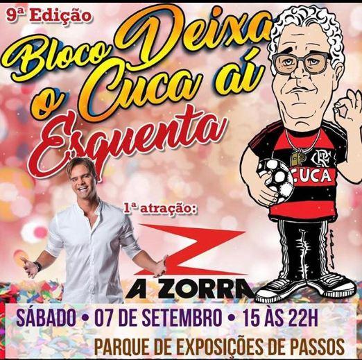 Bloco do Cuca Passos 2019 - Show A Zorra