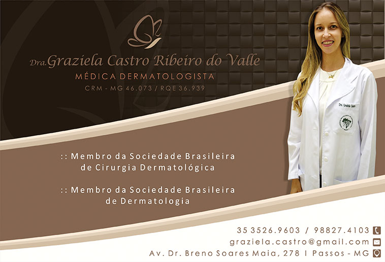 Dra Graziela Castro Ribeiro do Valle - CRM/MG 46073