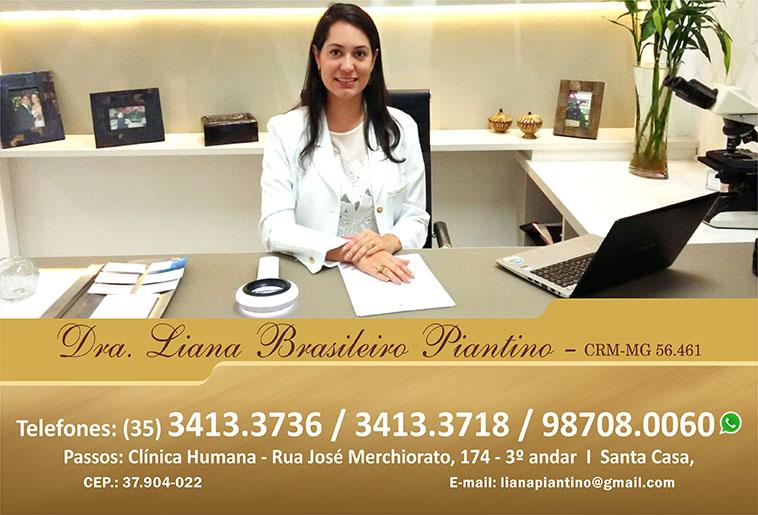 Dra. Liana Brasileiro Piantino - CRM/MG - 56461