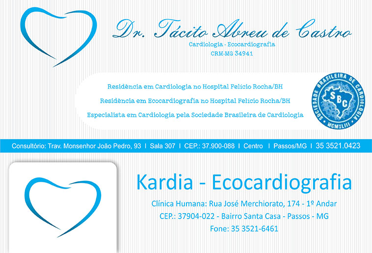 Dr. Tácito Abreu de Castro - CRM/MG - 34941