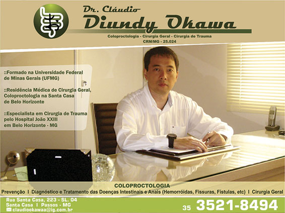 Dr. Cláudio Diundy Okawa - CRM/MG - 25024