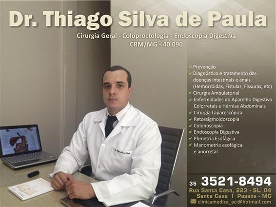 Dr. Thiago Silva De Paula - CRM/MG - 40090