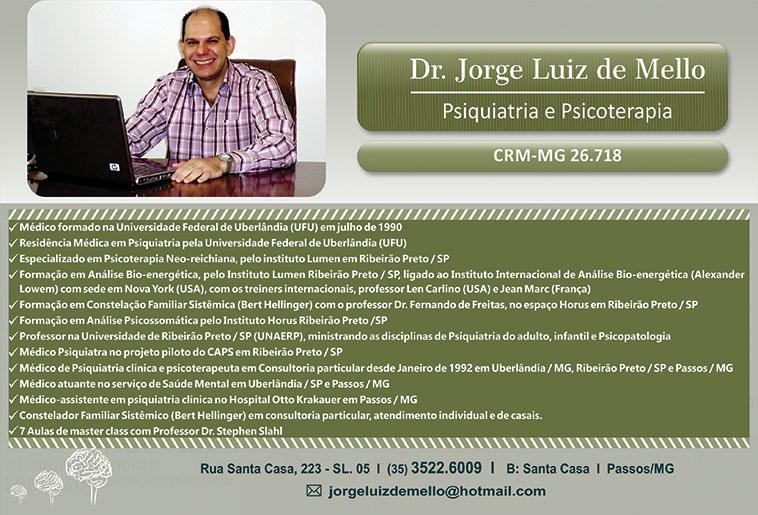Dr. Jorge Luiz de Mello - CRM/MG - 26718