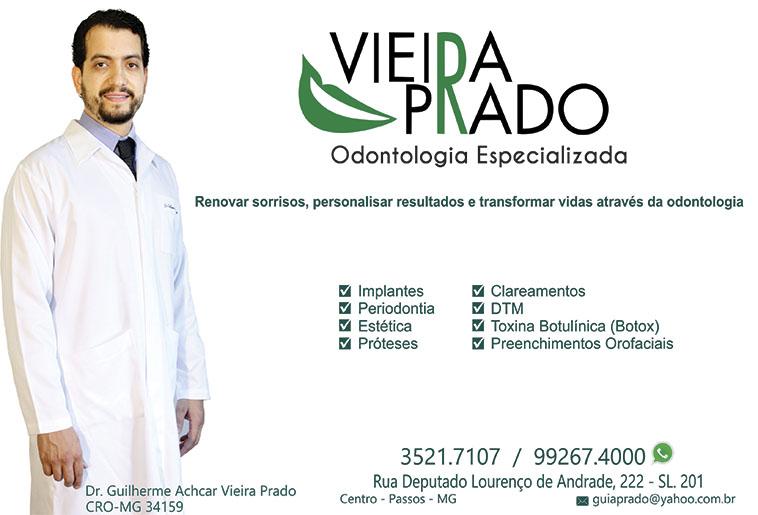 Dr. Guilherme Achcar Vieira Prado - CRO/MG - 34159