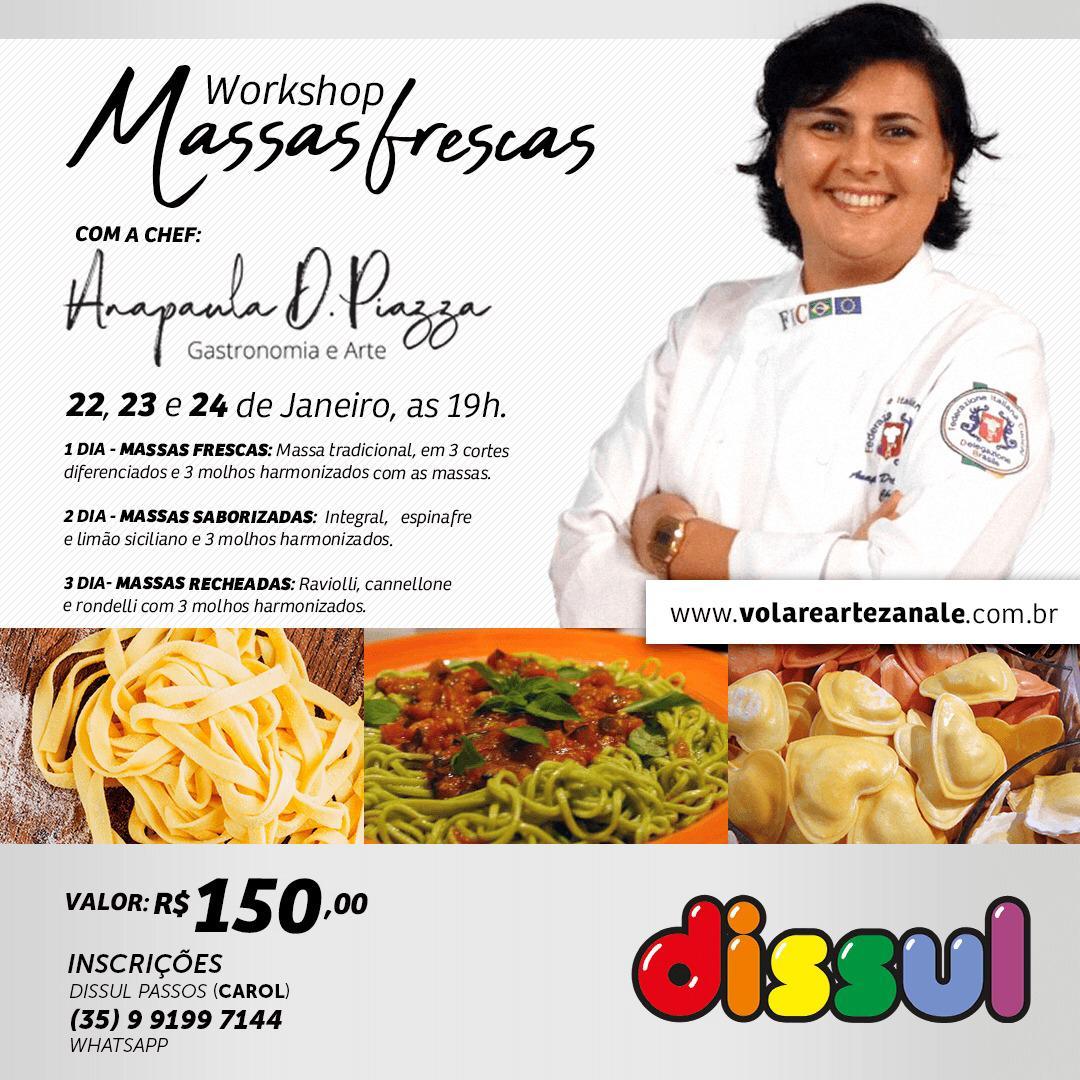 Dissul - Workshop de Massas Frescas (22/01 a 24/01)