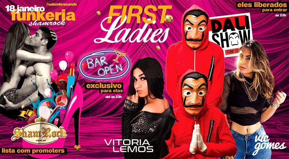 ShamRock Minash Pub - Funkeria Shamrock - Ladies First / São Sebastião do Paraíso-MG