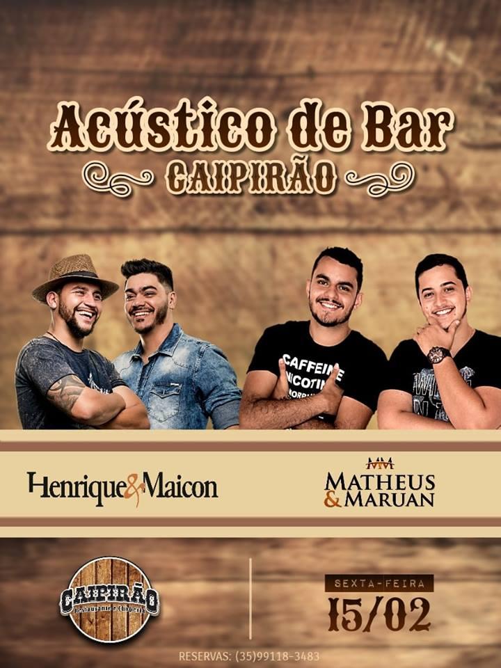 Caipirão - Henrique e Maicon + Matheus e Maruan