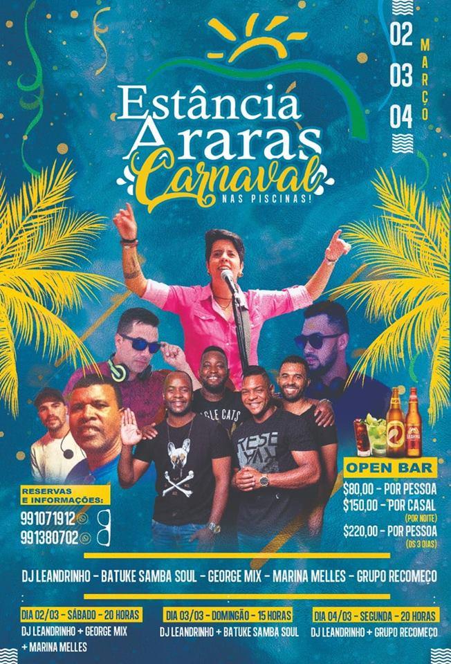 Estância Araras - Carnaval nas Piscinas / São Sebastião do Paraíso-MG