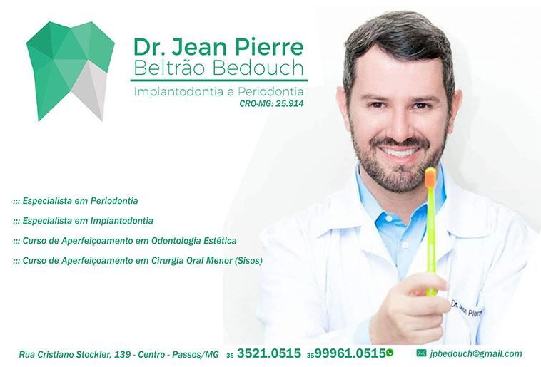Dr. Jean Pierre Beltrão Bedouch - CRO/MG - 25914