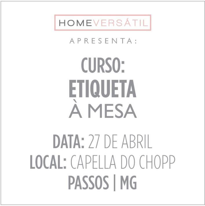 Capella do Chopp - Curso: Etiqueta à Mesa