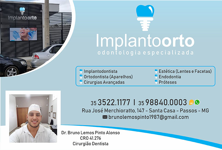 Dr. Bruno Lemos Pinto Alonso - Implantoorto - CRO 41276