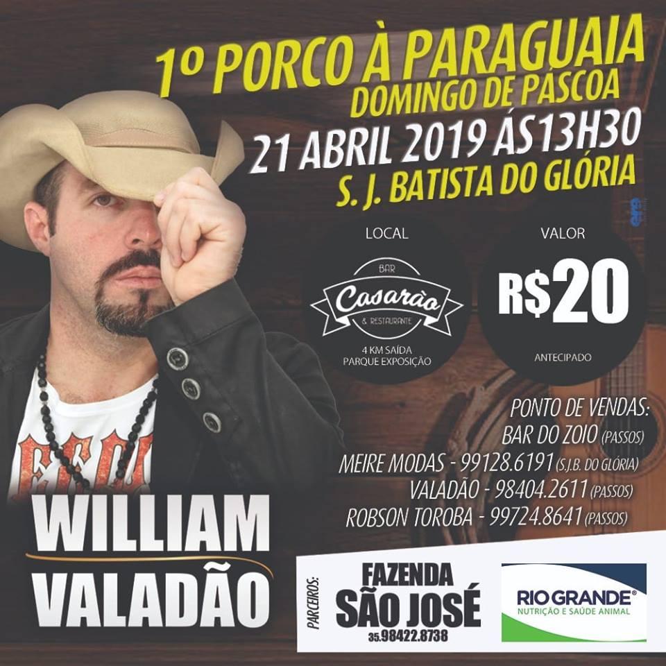 Casarão Bar e Restaurante - 1° Porco à Paraguaia Domingo de Páscoa / São João Batista do Glória-MG