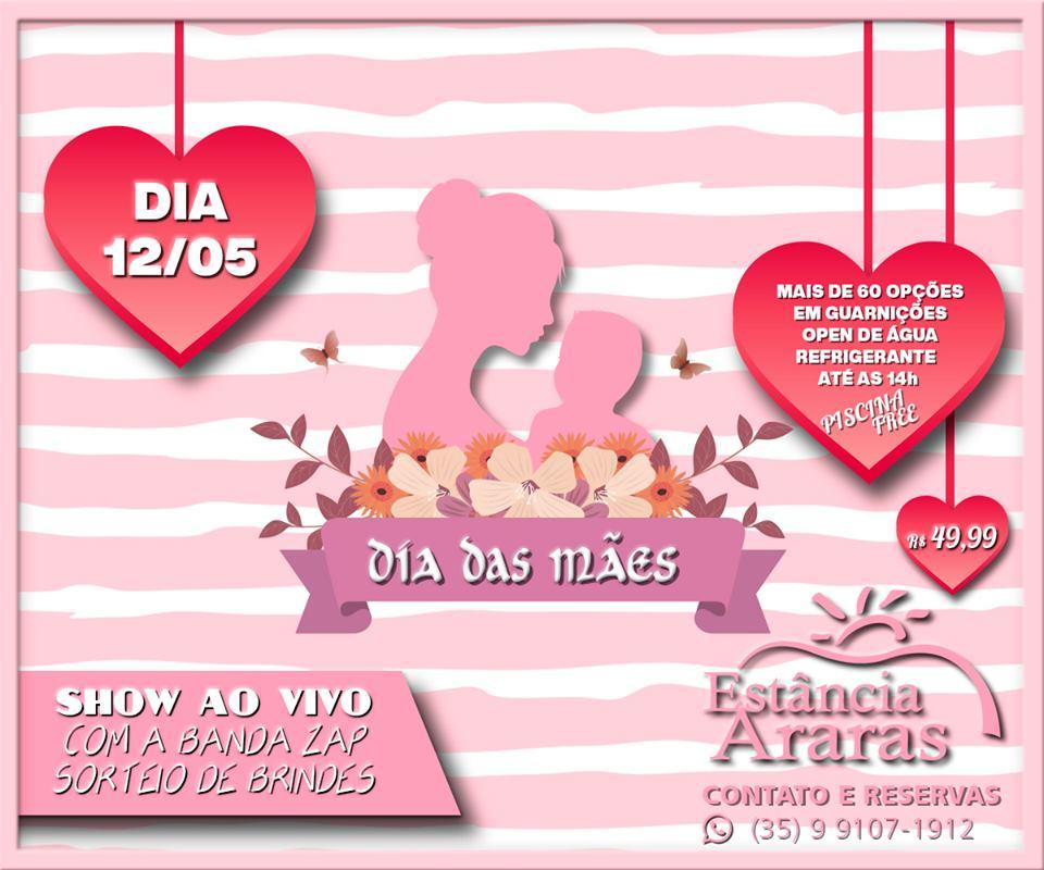 Estância Araras - Dia das Mães Estância Araras / São Sebastião do Paraíso-MG