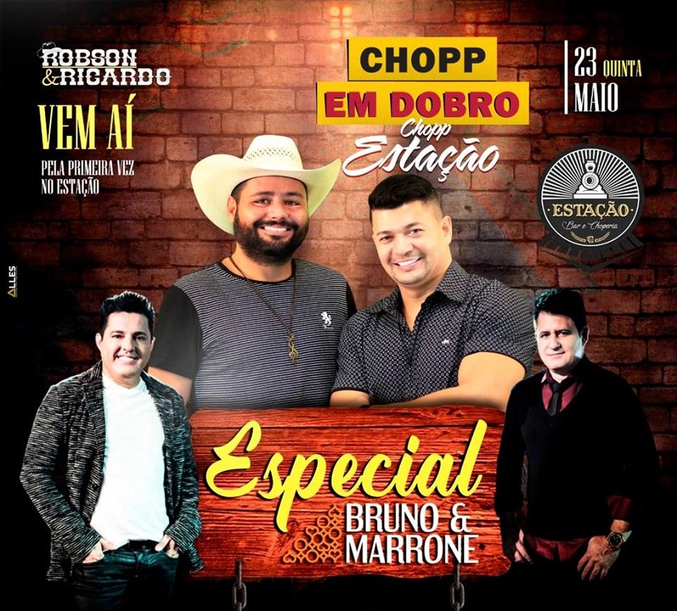 Estação Bar e Choperia - Especial Bruno e Marrone com Robson e Ricardo / São Sebastião do Paraíso-MG