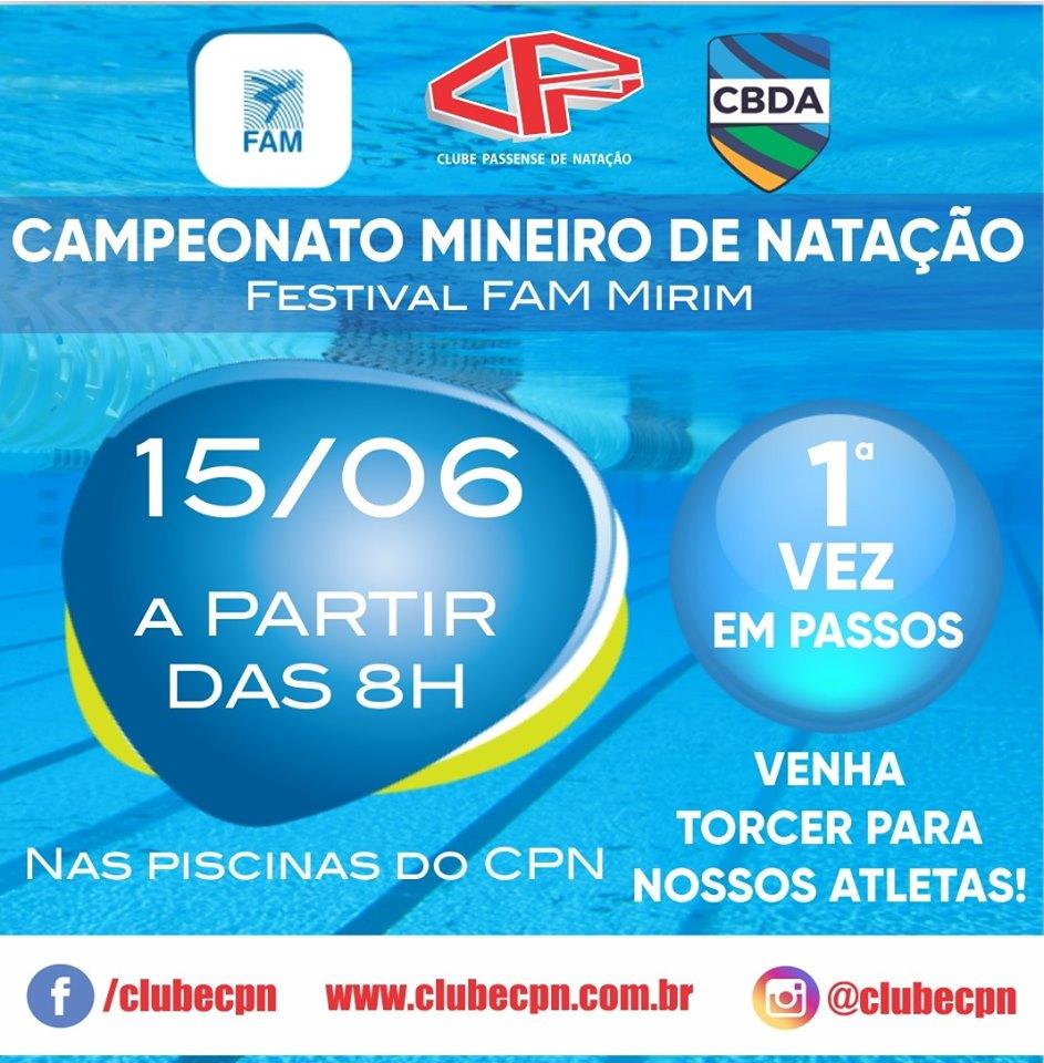 Clube CPN - Campeonato Mineiro de Natação