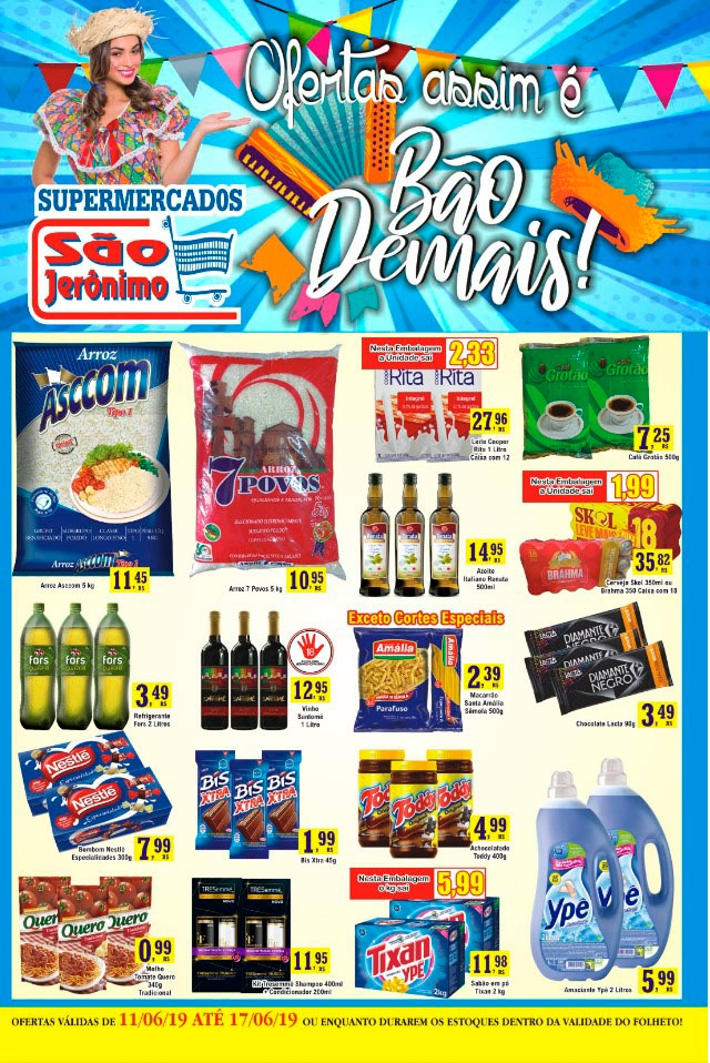 São Jerônimo - Ofertas da Semana Supermercados Passos MG / Jornal de Ofertas Supermercados Passos.