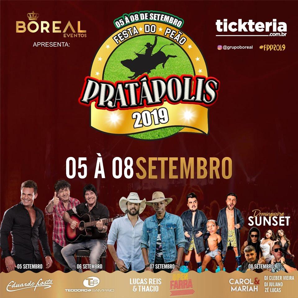Festa do Peão de Pratapolis - Show Teodoro e Sampaio Pratapolis MG
