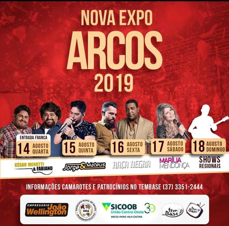 Expo Arcos 2019 - Show Cesar Menotti e Fabiano Arcos MG
