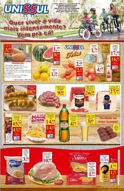 Unissul - Ofertas da Semana Supermercados Passos MG / Jornal de Ofertas Supermercados Passos MG