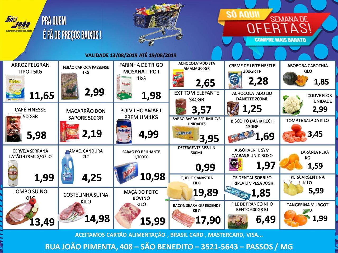 São João Supermarket - Ofertas da Semana Supermercados Passos MG / Jornal de Ofertas Supermercados